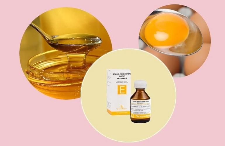 Ингредиенты укрепляющей маски для рук и ногтей с витамином Е