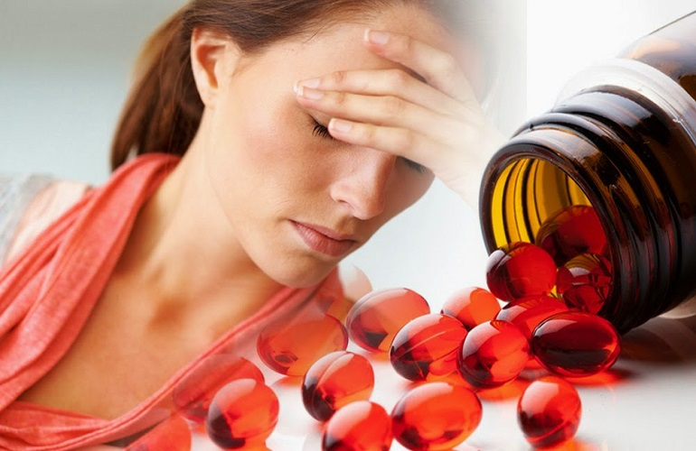 Головокружение - побочный эффект на прием витамина Е Зентива