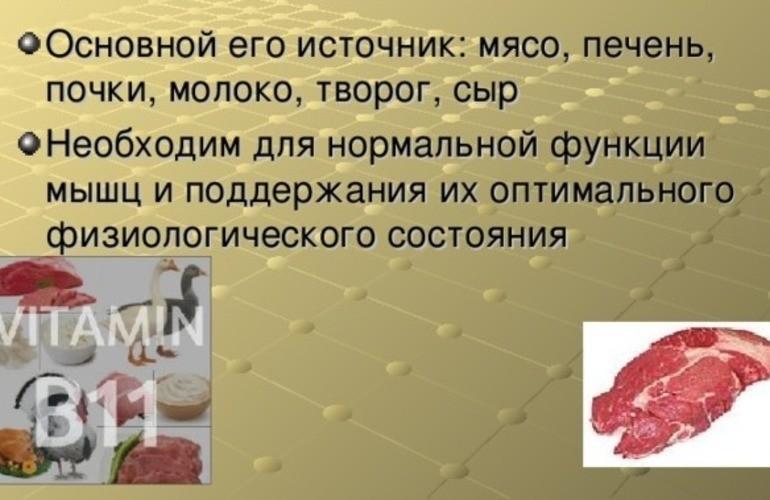 Источник витамина В11 в продуктах