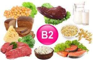 Продукты содержащие витамин в2