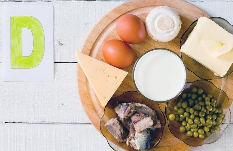 В продуктах прием витамина д