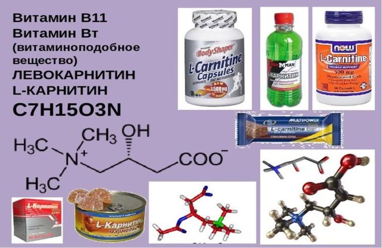 Витаминно-минеральные добавки с L-карнитином