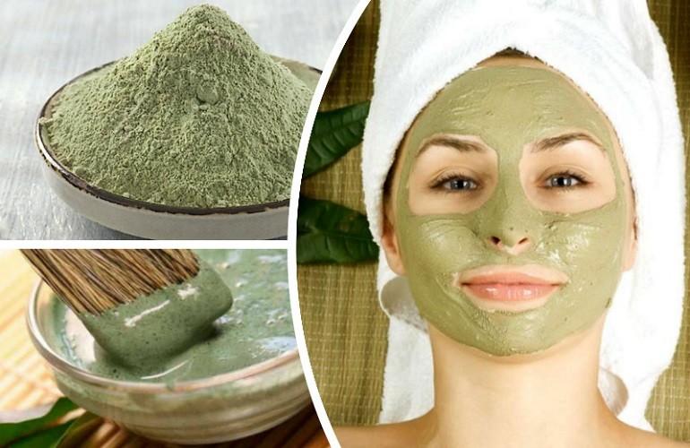 Маска из глины и зеленого чая