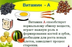 Полезные свойства витамина А