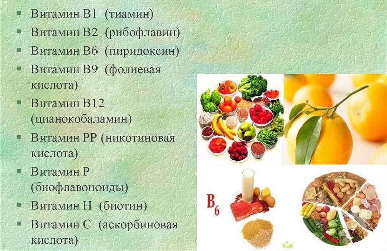 Группа водорастворимых витаминов