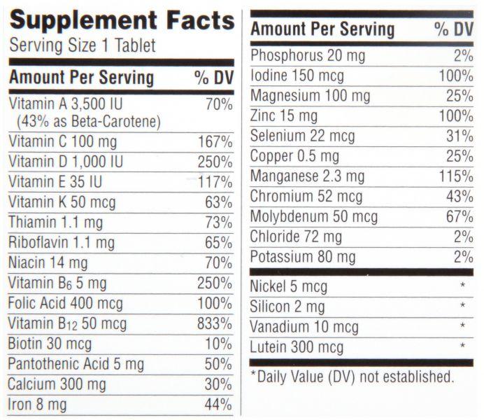 центрум сильвер витамины инструкция