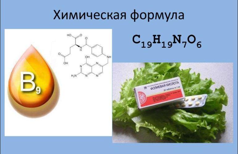 Химическая формула и препарат фолиевой кислоты
