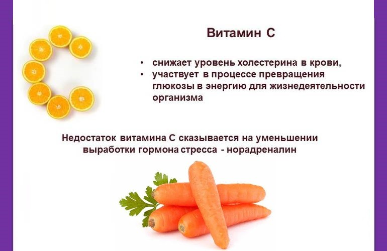 Витамин С в моркови