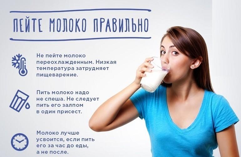 Употребление молочного напитка