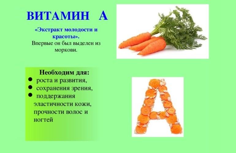 Витамин А в моркови