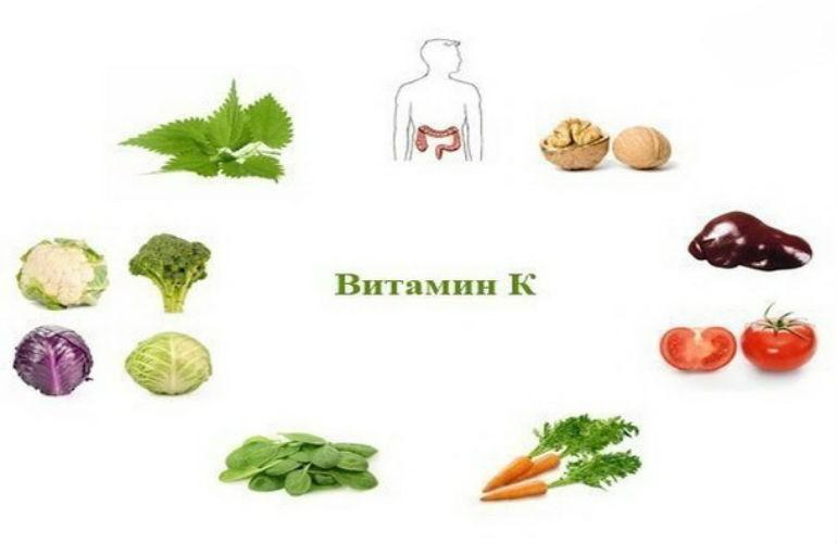 где содержится витамин к