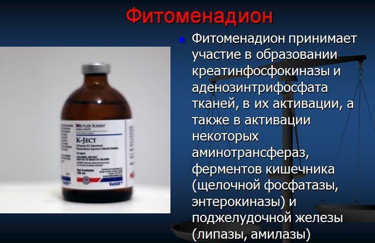 Фитоменадион препарат